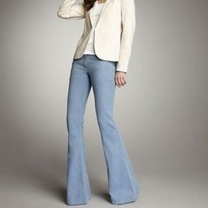 $245 Theory Shimra Blue Twill Flare Trouser Jeans